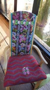 Beautiful Oaxaca tapestry chairs.