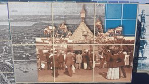 tile Mosaics of the Tent city- before it was the Hotel Del.