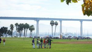 The Coronado Bridge links to mainland San Diego.