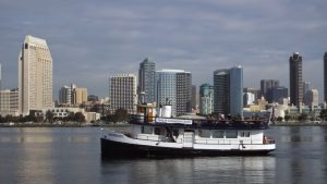 Ferry between  the San Diego Convention Center and Coronado