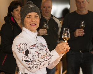 Stephanie Beaudoin, co-owner of Domaine Neige