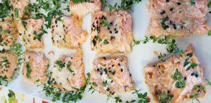 Salmon paired Sauvignon Blanc
