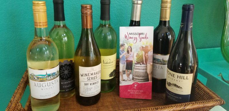The line-up of Missouri wines