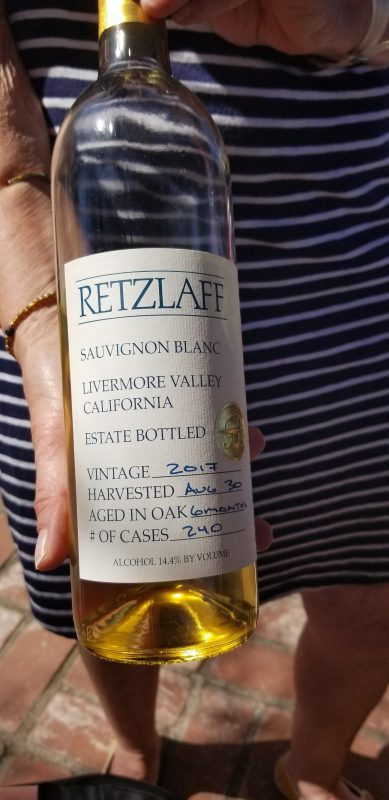 2017 Sauvignon Blanc from Retzlaff Winery