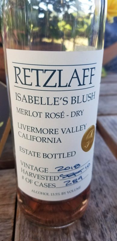 Granddaughter Isabelle is the namesake for this Rosé. Merlot Blush wine