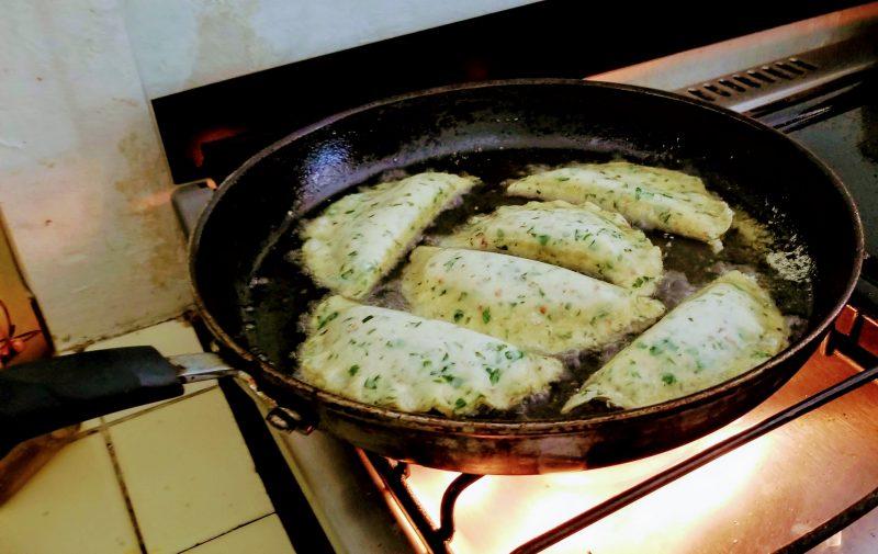 empanadas frying