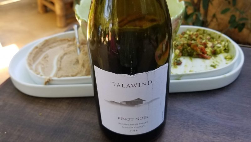 2014 Talawind Pinot Noir and Hummus and Tabbouleh