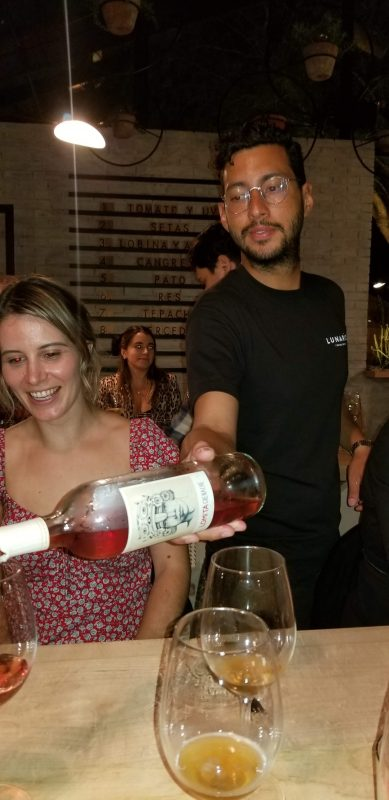 Serving the Rosé of Grenache