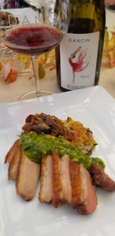 Duck Breast with paired Pinot Noir
