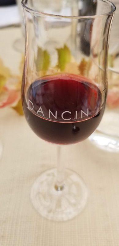 Glass of 2017 Septette Pinot Noir