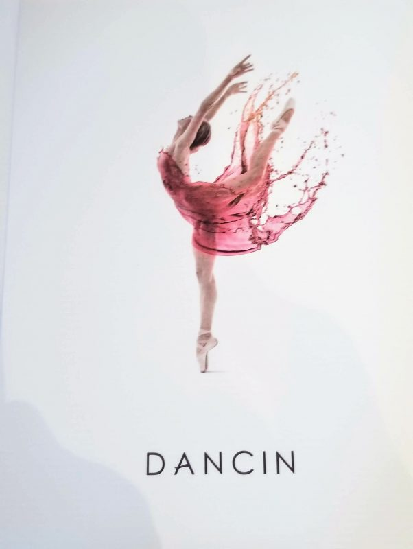Lovely labels reflecting dance and wine