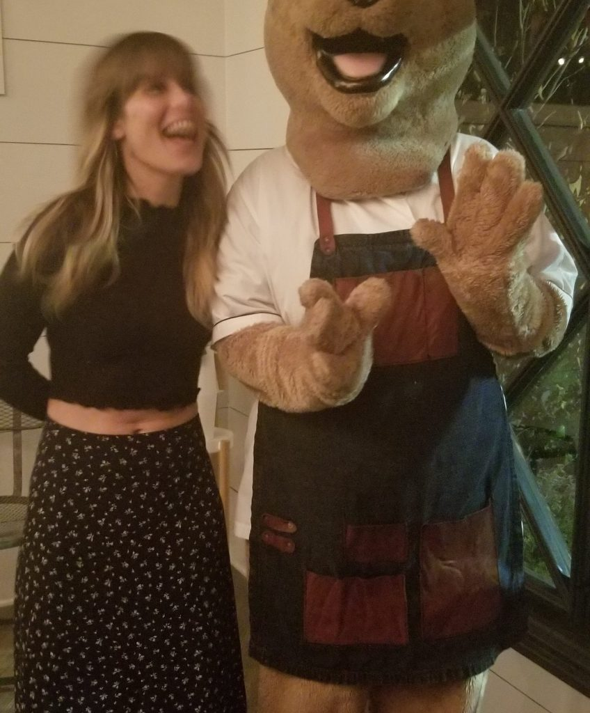 Our hostess Jill and Chef Bear