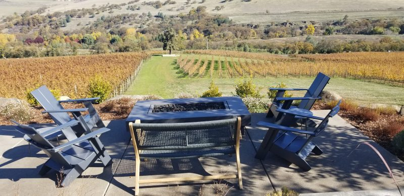 Peaceful fire pit to enjoy their beautiful wines