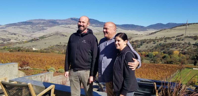 Winemaker Vince, and owners Doug and Dionne Irvine