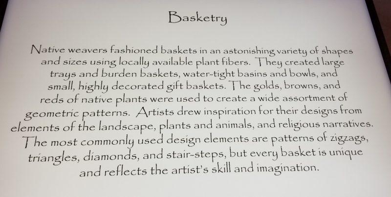Basket description