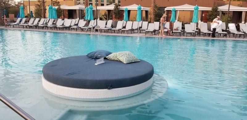 Relaxing pod in pool