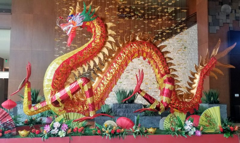 Dragon in lobby for Chinese New Years