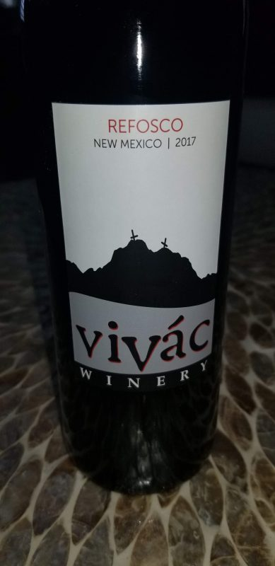 Vivac Winery 2017 Refosco
