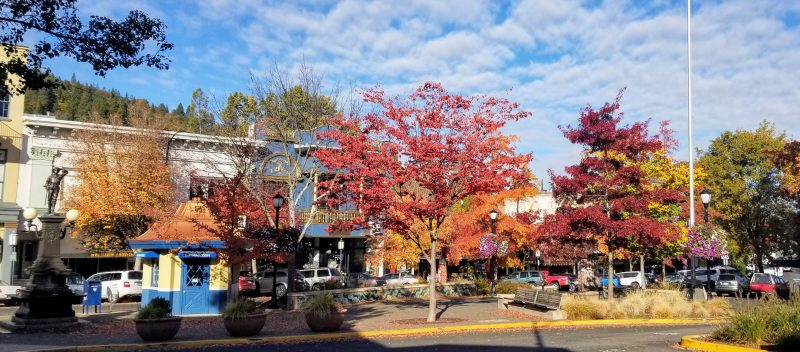 Plaza area in Ashland Oregon