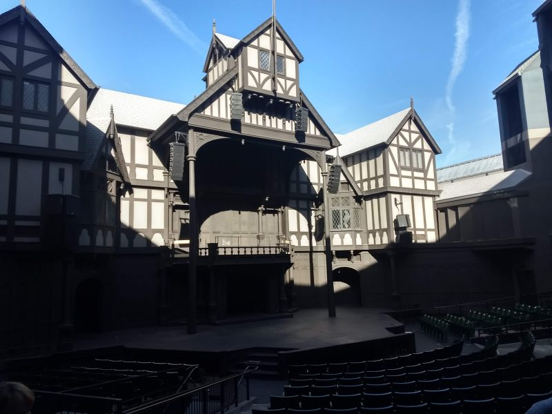 Stage at Elizabethan Theater Photo by Don Sonderling