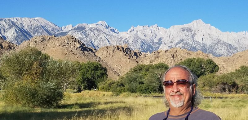 Marc in front of the Eastern Sierras
