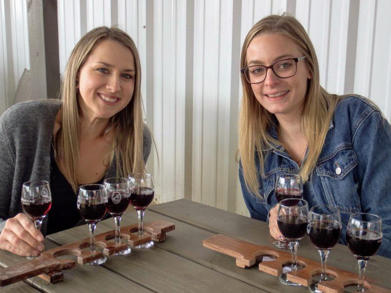Winetasters at Hatfield Creek Winery
