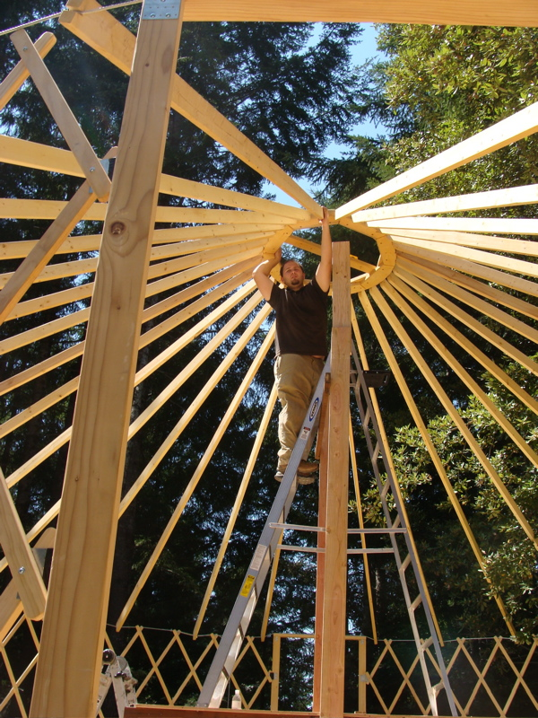 Chris builds a Yurt
