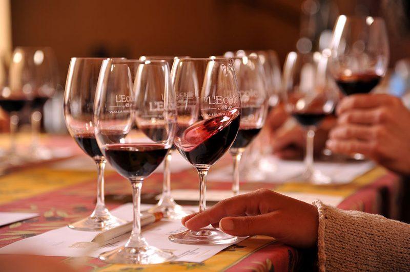 L'Ecole Wine Tasting